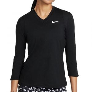 Nike Women's Court Dri-fit Victory 3/4 Sleeves T-shirt